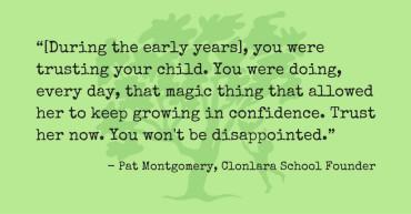 Pat Montgomery Quote Re: Trust